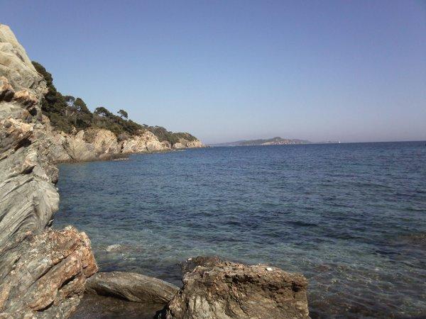 Le coté gauche de la plage des Darboussières à Giens