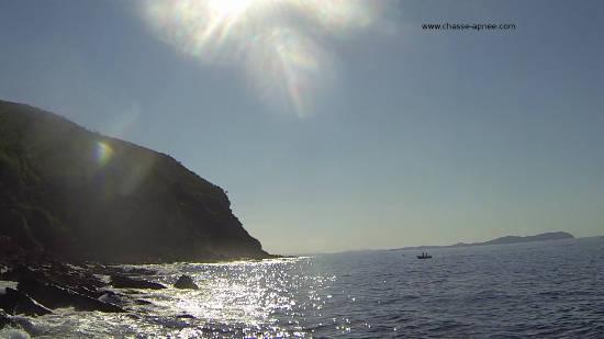 depart du spot chasse sous marine l'Oursinado au Pradet.