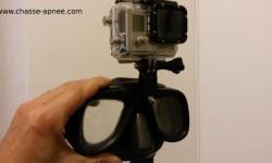 bricolage chasse sous-marine : caméra sur masque