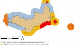 Zones reglementées à Porquerolles.