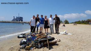Nettoyage sous-marin plage des Salins à Hyères (Var)