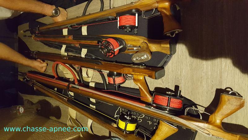 Un échantillon de fusils Carl's Guns