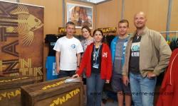 le stand Fanatik de Tania Texeira au salon de Cagnes sur Mer